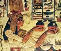 Detail inside the tomb of Nefertari