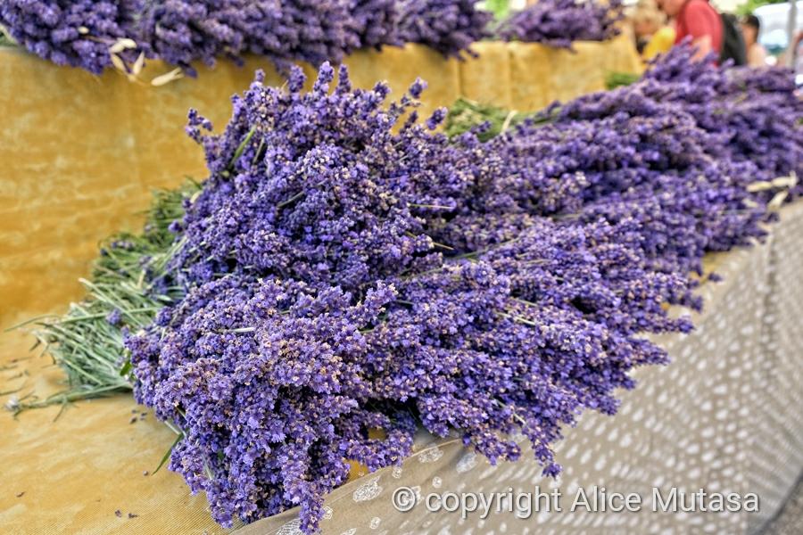Lavender on sale in Sault village market