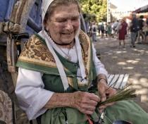 Eliane - at the levender festival in Ferrassière village