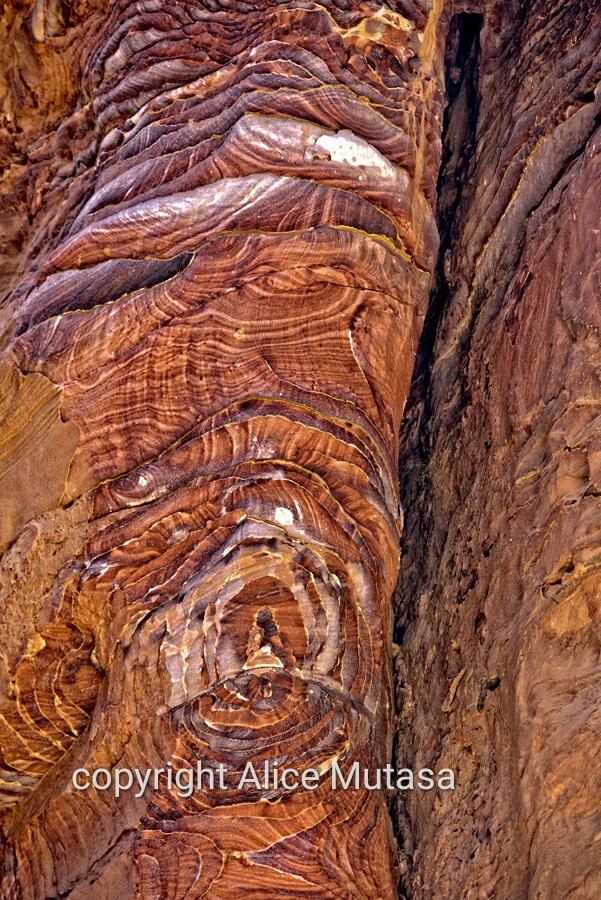 Amazing rock patterns in Petra
