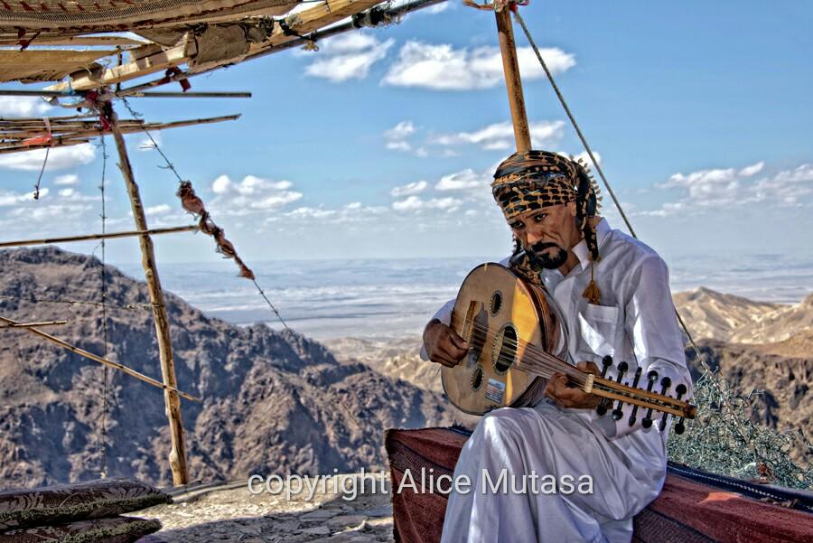 The most bad-tempered bedouin we met in Jordan....