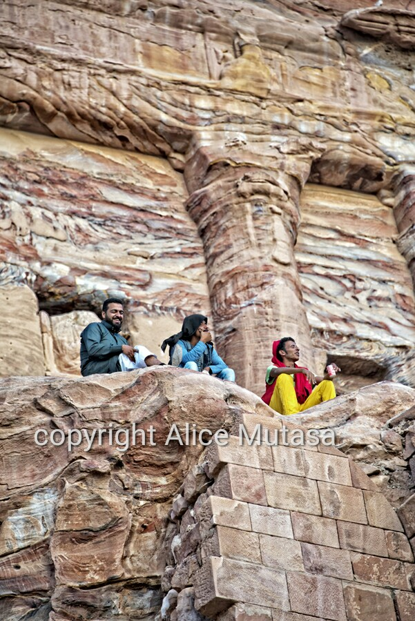 Hanging out in Petra....