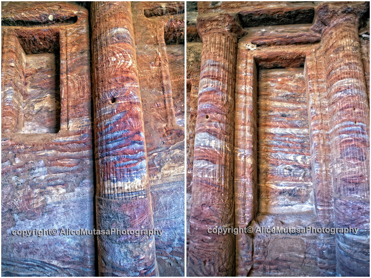 Amazing rock colours in Roman soldiers tomb
