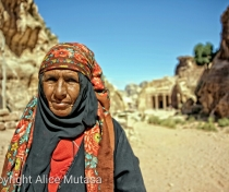 Hassin - Bedouin lady in Petra who wanted to sell me antique coins