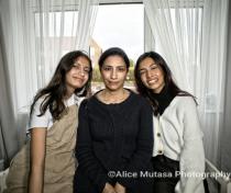 Jamilah (L), Farhana (R) with their mother