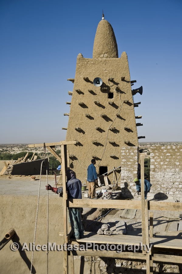 Repairs to Djingareyber Mosque, Timbuktu