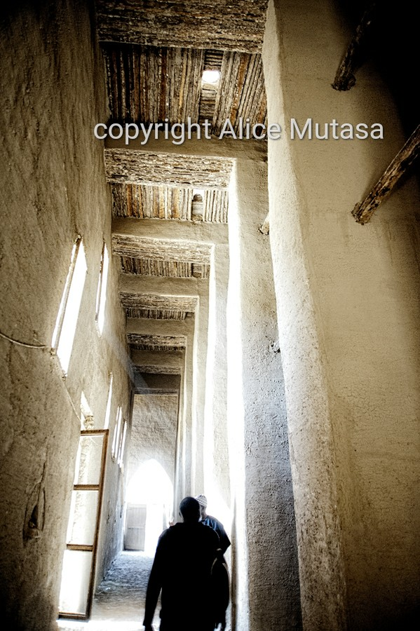 Inside the Great Mosque of Djenné
