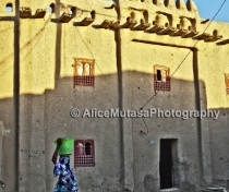 Djenné dawn - coming back from fetching water