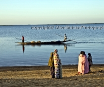 Niger river dawn - near Sandega village