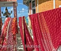 Washing day at the Ananta Maa Mandir Temple