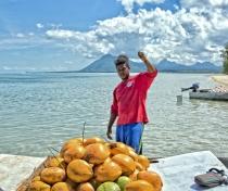 Benjamin & his floating coconut stall