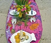 Floating sea urchin & oyster bar