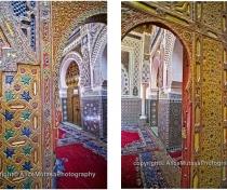 Entrance to the Mausolée Moulay Idriss II
