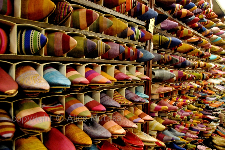 Slipper souk, Marrakech