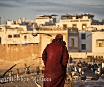 The man in the red djellaba