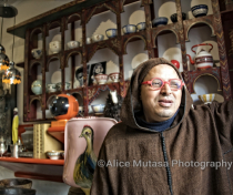 Abdellatif among his collection of fabulous objects - formerly the wonderful 'Elizir' restaurant