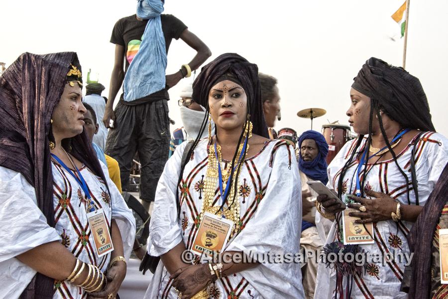 Touareg women in their best jewellery....