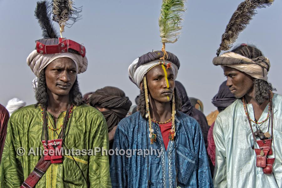 Young Peul men at a Gerewol