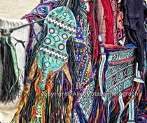 Touareg leatherwork on a camel