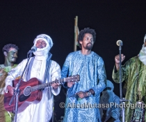 Abdallah Ag Alhousseyni from Tinariwen, with Sadam & Hicham from Imarhan