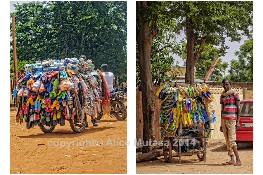 Niamey - street sellers