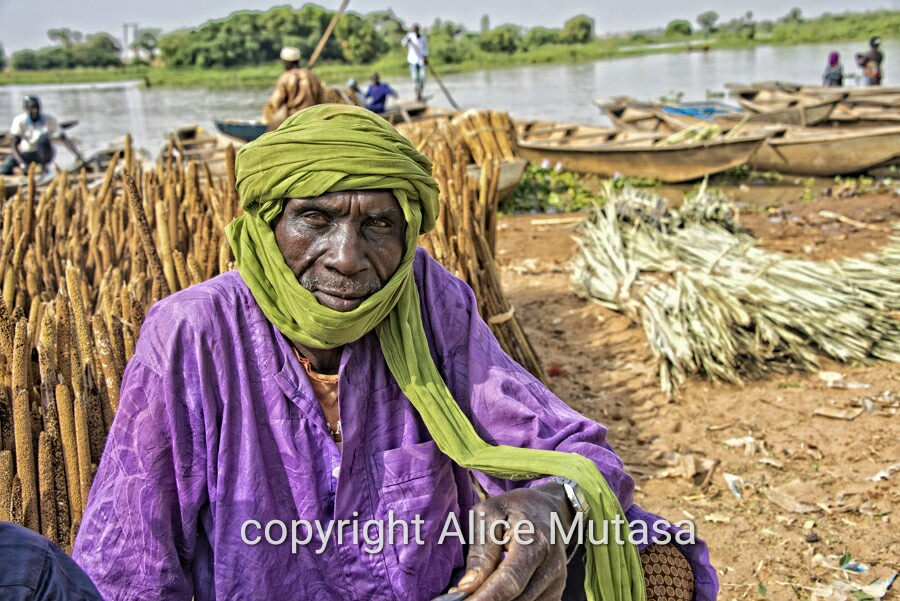 Souley from Danbou village - he was selling millet at Boubon market
