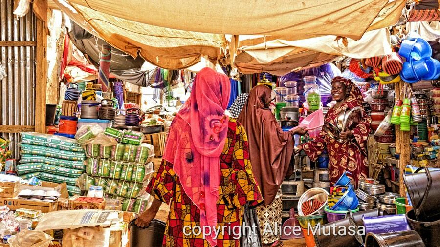 Ami at the market