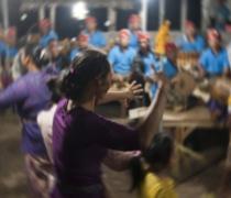 Dewa Ayu ('Kriss') trance dance: family shrine ceremony, Sumerkima village