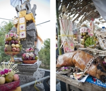 Offerings: Adi's new family shrine, Sumerkima village