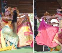 Hermalini & Gusti Sura: students of the 'Yap Foundation' project, performing 'Oleg Tamulilinean' at the Buleleng Festival, Singaraja