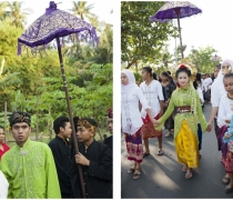 Eddie & Neila at their marriage procession; Kukuran village, Lombok
