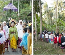 Sasak marriage procession (wedding of Eddie & Neila): Kukuran village, Lombok