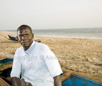 Sidi: sculptor; Senegal