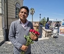Abdul - rose seller, above the Spanish steps