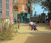 Kids playing; Isle de Gorée, Dakar