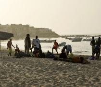 La 'lutte' - Traditional wrestling; Plage N'Gor, Dakar