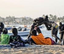 'La Lutte' - traditional wrestling on Plage N'Gor, Dakar
