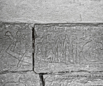 Images engraved on the wall inside one of the pyramids at Meroë