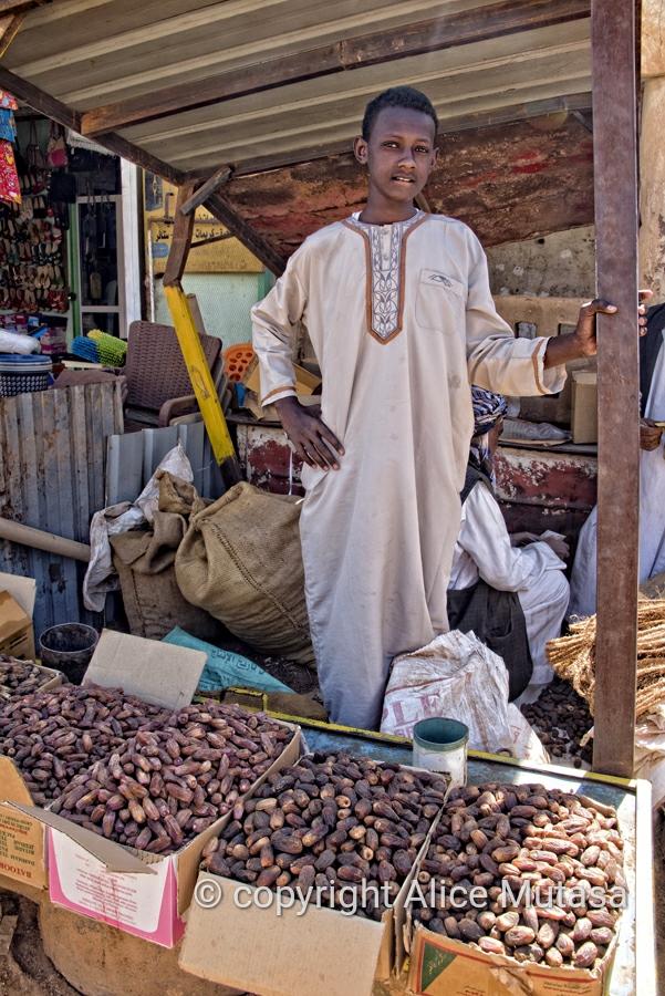 Abdelkhader - date seller, Karima market