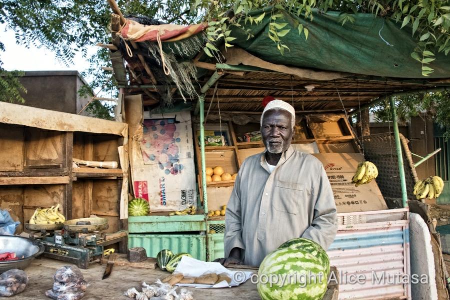 Moussa, watermelon & vegetable seller, Wad al-Bakheet; Omdurman