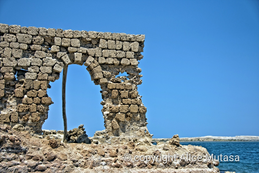 Ruins of the old town built of coral; Suakin