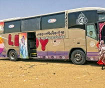 The bus I travelled to Karima in