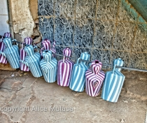 Plastic jugs for washing; Khartoum