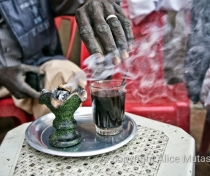 'Bakhoor' - In Sudan you get incense with your coffee or tea!