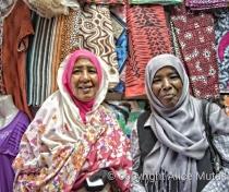 Esharaya and Sadia - lovely women who helped my buy a traditional 'Thobe' in Omdurman suq