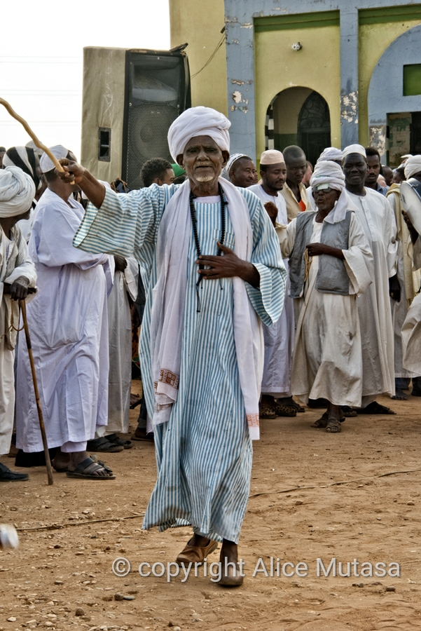 Sufi dancing and drumming at the tomb of Hamed el-Nil, Omdurman, Sudan