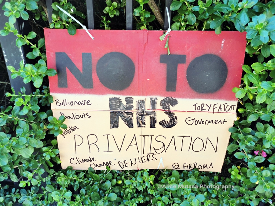 No to NHS privatisation ...