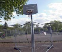 Sad forbidden basketball hoop, Chestnuts Park