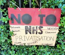 No to NHS privatisation ...