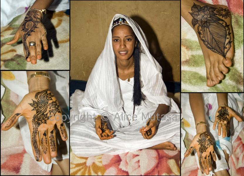 Ruki - mariee (bride) - touareg wedding, Burkina Faso